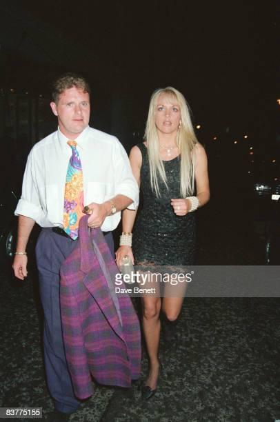 Footballer Paul Gascoigne with his girlfriend Sheryl Kyle May 1993