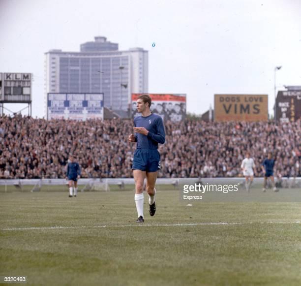 Footballer Peter Osgood of Chelsea FC during a match