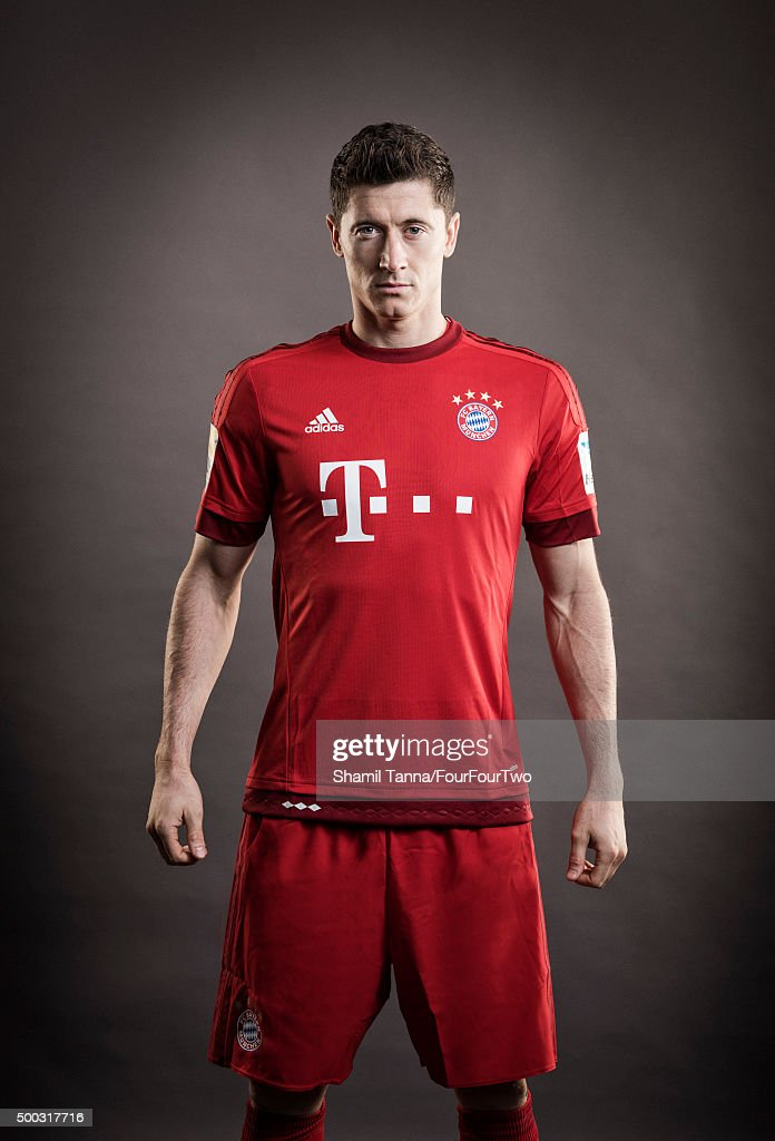 Footballer Robert Lewandowski is photographed for FourFourTwo magazine on October 19, 2015 in Munich, Germany.