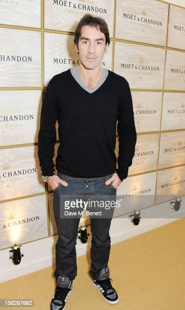 Footballer Robert Pires attends the Moet Chandon VIP Suite during day eight of the ATP World Finals at the O2 Arena on November 12 2012 in London...