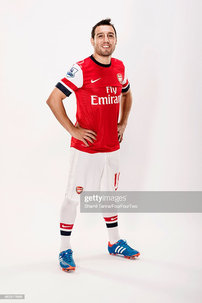 Footballer Santi Carzola is photographed for FourFourTwo magazine on October 18, 2012 in London, England.