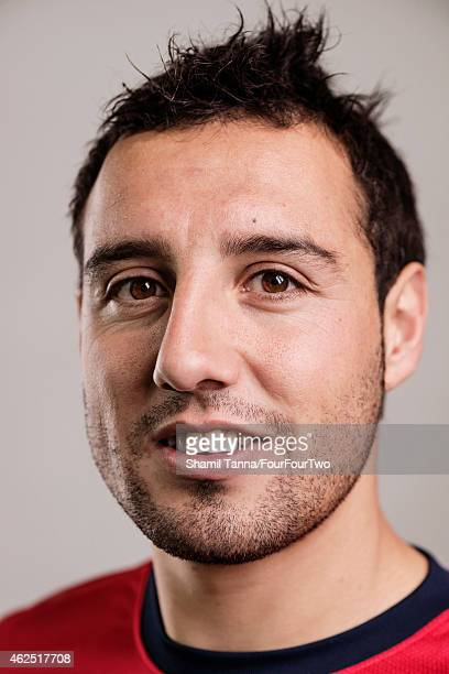 Footballer Santi Carzola is photographed for FourFourTwo magazine on October 18 2012 in London England