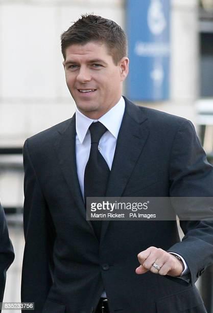 Footballer Steven Gerrard arrives at North Sefton Magistrates court in Southport