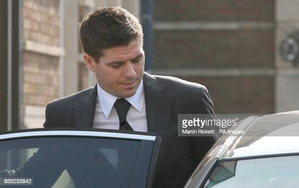 Footballer Steven Gerrard leaves North Sefton Magistrates court after an assault charge against him was dropped