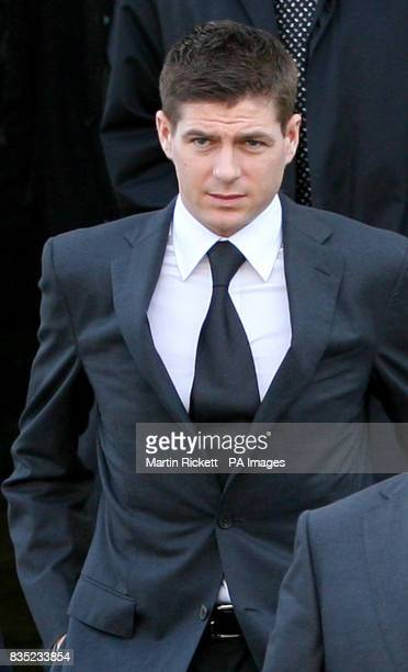 CROP Footballer Steven Gerrard leaves North Sefton Magistrates court after an assault charge against him was dropped