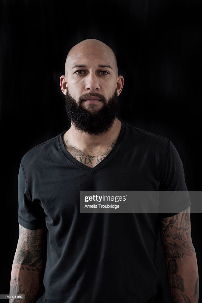 Footballer Tim Howard is photographed on October 21, 2014 in Liverpool, England.