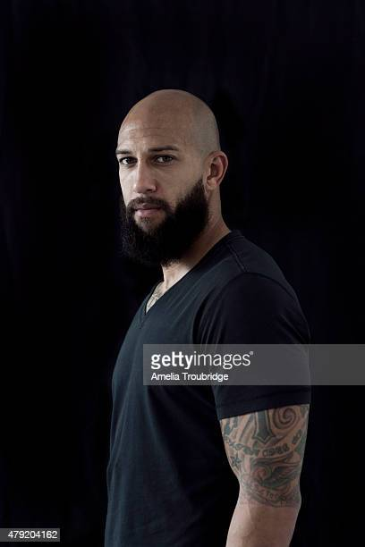 Footballer Tim Howard is photographed on October 21 2014 in Liverpool England