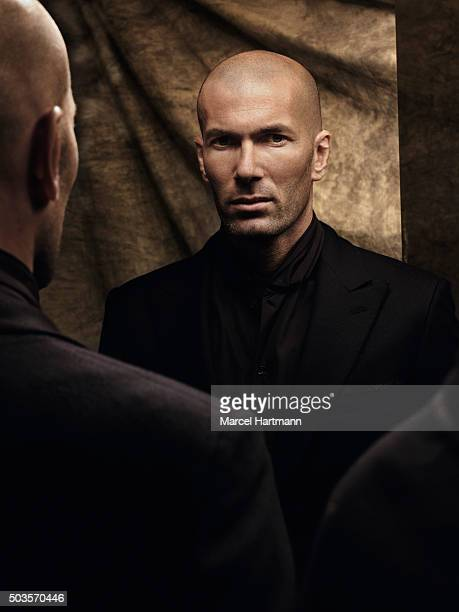 Footballer Zinedine Zidane is photographed for Self Assignment on October 13 2009 in Paris France