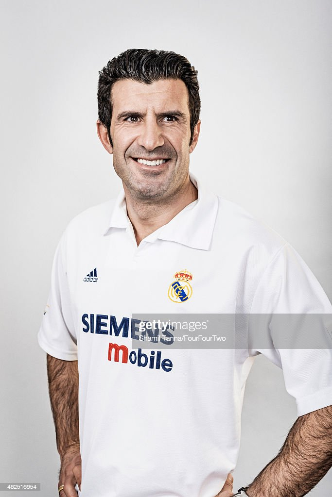 Footballing legend <a gi-track='captionPersonalityLinkClicked' href=/galleries/search?phrase=Luis+Figo&family=editorial&specificpeople=201507 ng-click='$event.stopPropagation()'>Luis Figo</a> is photographed for FourFourTwo magazine on November 23, 2012 in London, England.