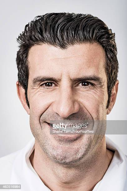 Footballing legend Luis Figo is photographed for FourFourTwo magazine on November 23 2012 in London England
