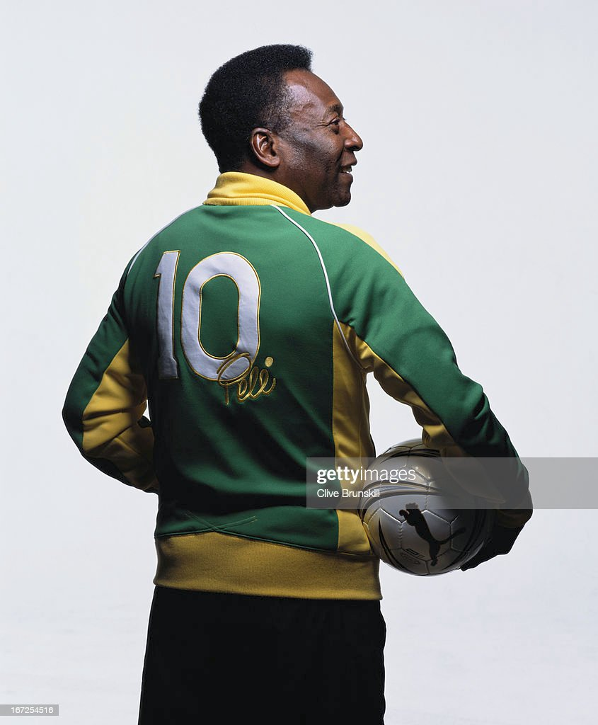 Footballing legend Pele is photographed on March 10, 2005 in Sao Paulo, Brazil.