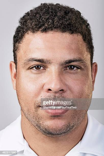 Footballing legend Ronaldo Luis Nazario de Lima is photographed for FourFourTwo magazine on October 10 2012 in London England