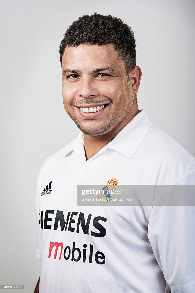 Footballing legend Ronaldo Luis Nazario de Lima is photographed for FourFourTwo magazine on October 10, 2012 in London, England.