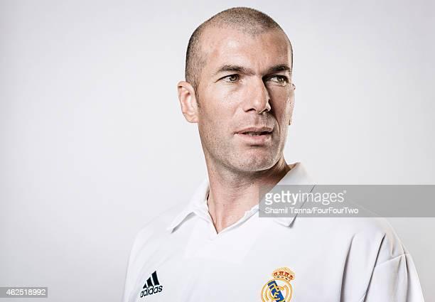 Footballing legend Zinedine Zidane is photographed for FourFourTwo magazine on January 11 2013 in London England