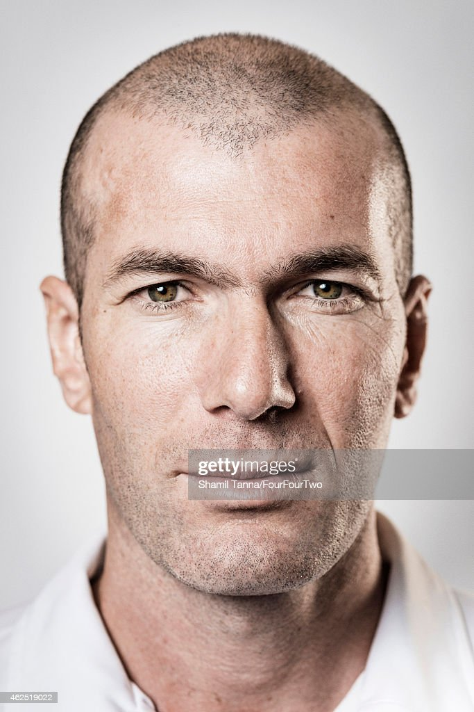 Footballing legend <a gi-track='captionPersonalityLinkClicked' href=/galleries/search?phrase=Zinedine+Zidane&family=editorial&specificpeople=172012 ng-click='$event.stopPropagation()'>Zinedine Zidane</a> is photographed for FourFourTwo magazine on January 11, 2013 in London, England.