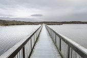 Footbridge at Oso Flaco Lake State Park.