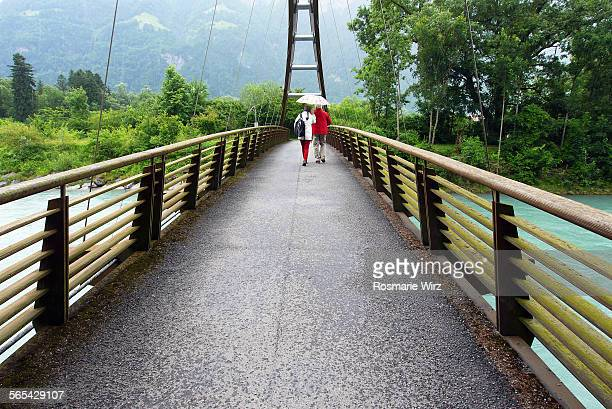 Footbridge over Reuss River