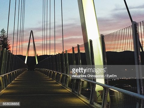 Footbridge Over Silicon Valley During Sunset