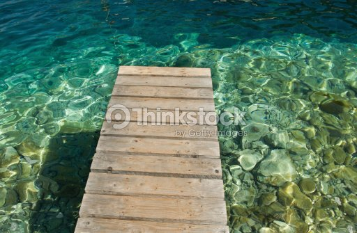footbridge over the sea : Stock Photo