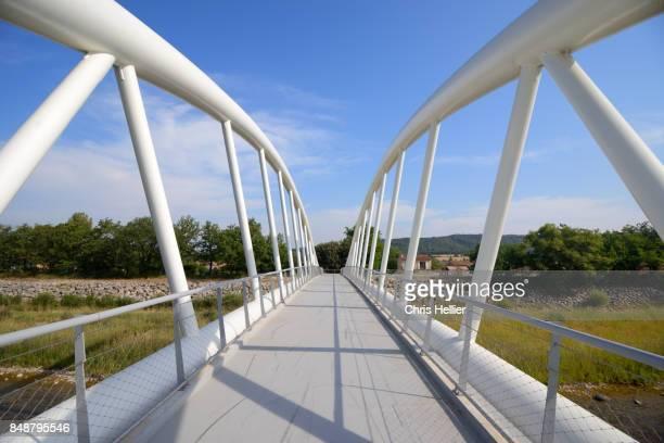 Footbridge over Verdon River at Vinon-sur-Verdon Provence