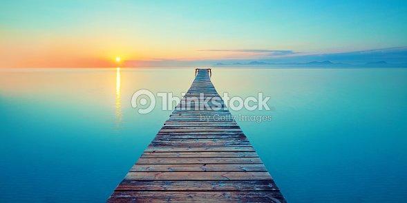 footbridge sea beach : Stock Photo