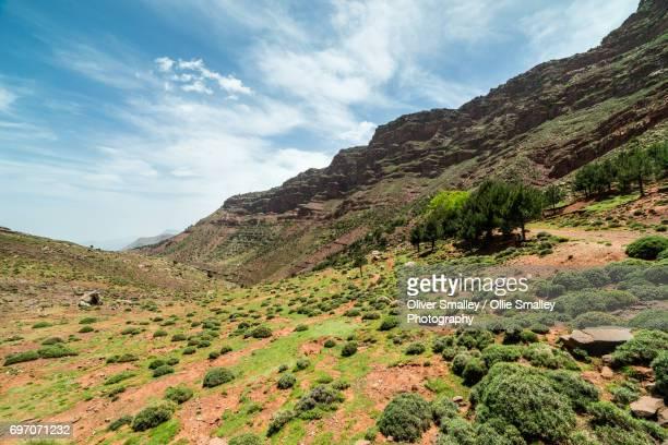 Foothills of the High Atlas Mountains and the Oukaimeden Cliffs - Oukaimeden, Morocco