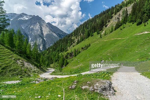 Footpath in Karwendel mountain