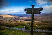 Footpath Sign on Haworth Moor