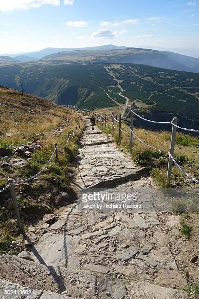 Footpath up to Sniezka Mountain, Silesia Poland