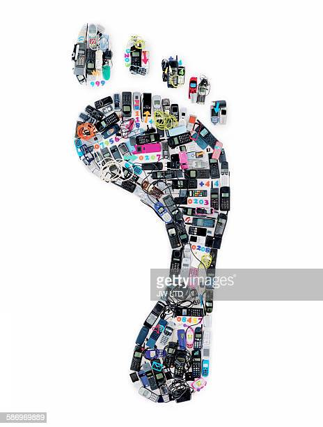 Footprint created from mobile phones