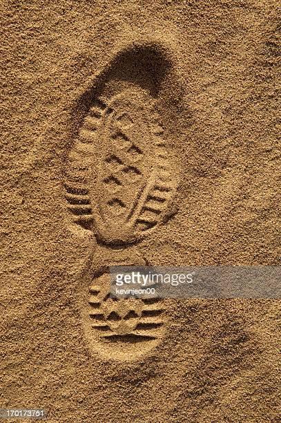 Fußabdruck auf sand