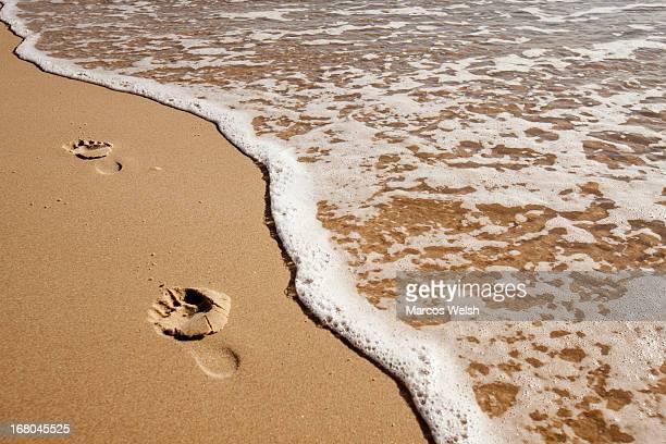 Footprints in Sand, Gold Coast, Queenslan
