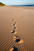 Footprints in the sand, Maitlands Beach, Port Elizabeth, Eastern Cape, South Africa