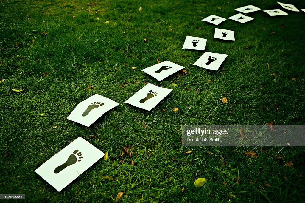 Footprints : Stock Photo