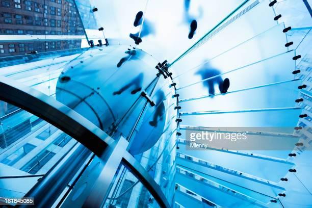 Footprints escalier de verre moderne de l'Architecture