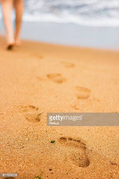 footsteps on the beach two