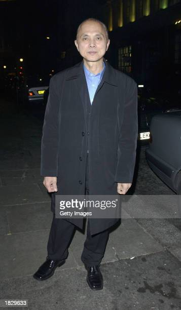 Footware designer Jimmy Choo arrives at Sketch nightclub on March 4 2003 in London England