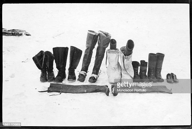 Footwear used during the expedition led by Norwegian explorer Roald Amundsen in the polar regions Antarctica 1900s