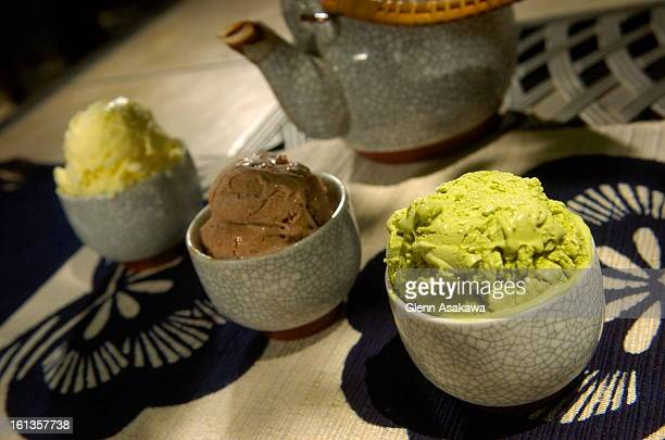 ICECREAMLAFAYETTE COLORADOMAY 19 2007 For a different ice cream taste try infusing Asian flavors such as ginger left red bean center or green tea...
