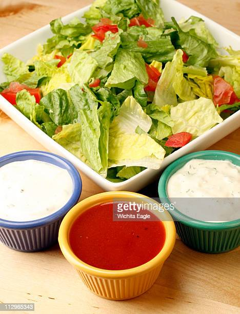 For a healthy salad add lighter version dressings like Blue Cheese French and Ranch dressings