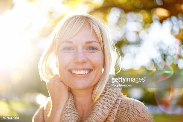 Ein Lächeln, die hell wie der Tag