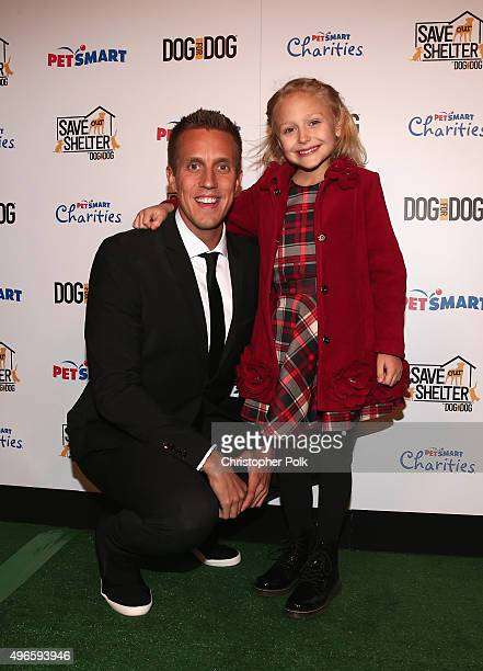 DOG for DOG Founder and President Rocky Kanaka and actress Alyvia Alyn Lind attend the launch of DOG for DOG movement Buy One Give One to help feed...