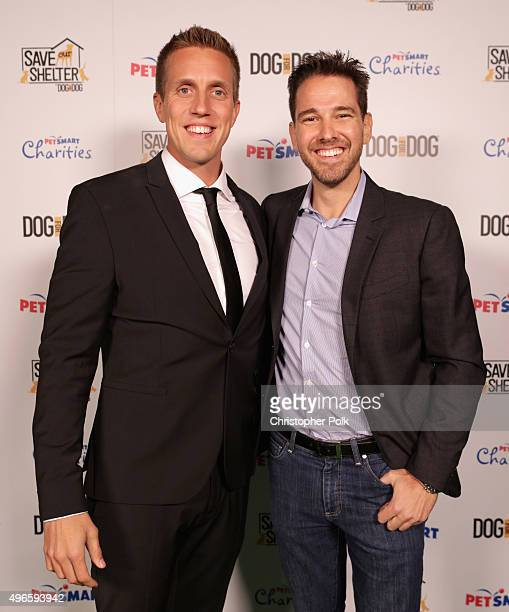 DOG for DOG Founder and President Rocky Kanaka and Knight Global's Matthew Kavanaugh attend the launch of DOG for DOG movement Buy One Give One to...