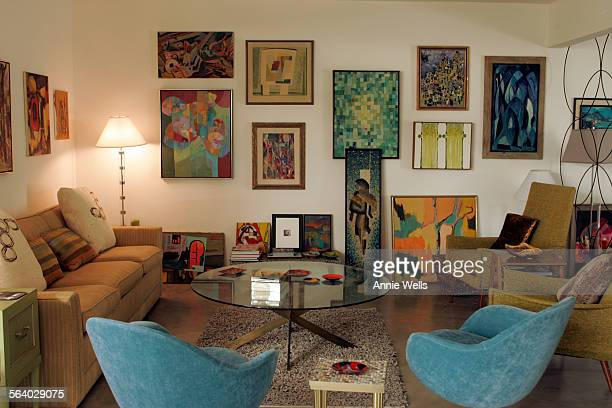 For INTERIOR MONOLOGUE The focus is on how the owners of a 60's Palm Springs tract home Bob Merlis and Lynda Keeler use low cost vintage items in...