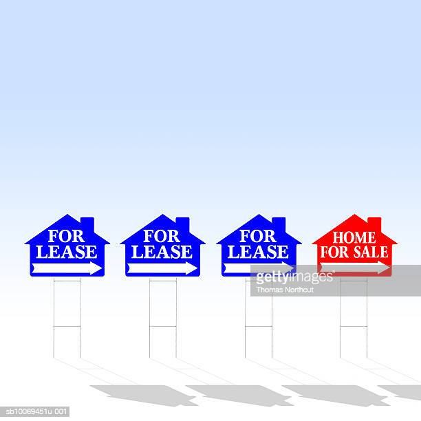 For lease and for sale signs