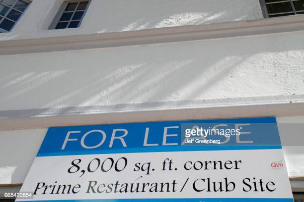 A for lease sign for a restaurant club site