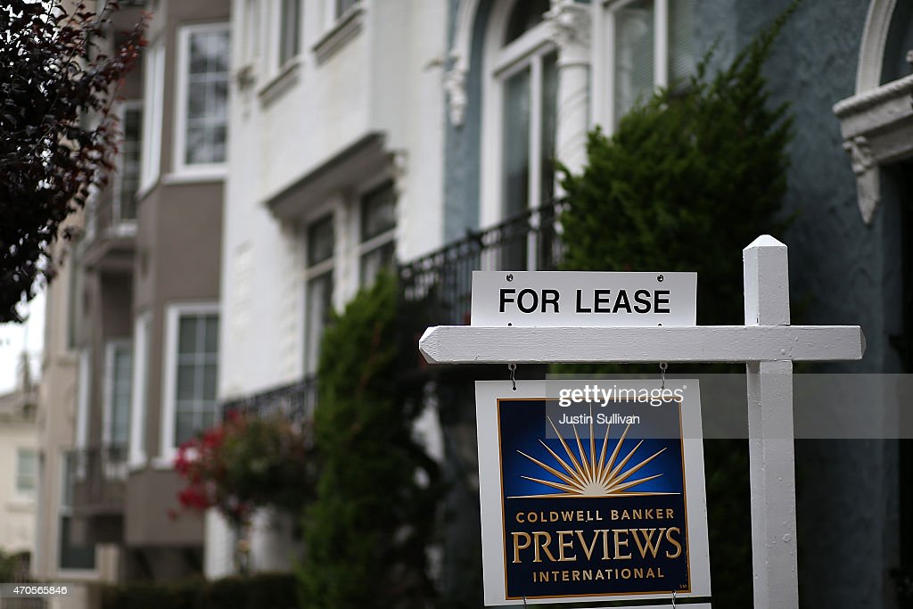 A for lease sign is posted in front of home for rent on April 21 2015 in San Francisco California According to a report by Forbes magazine San...