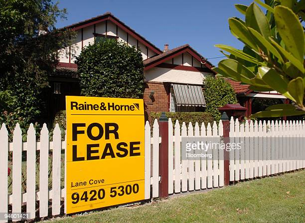 A 'For Lease' sign is posted outside a house in Sydney Australia on Monday Jan 22 2007