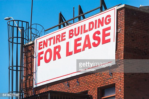 for lease sign, real estate, nyc, building : Stock Photo