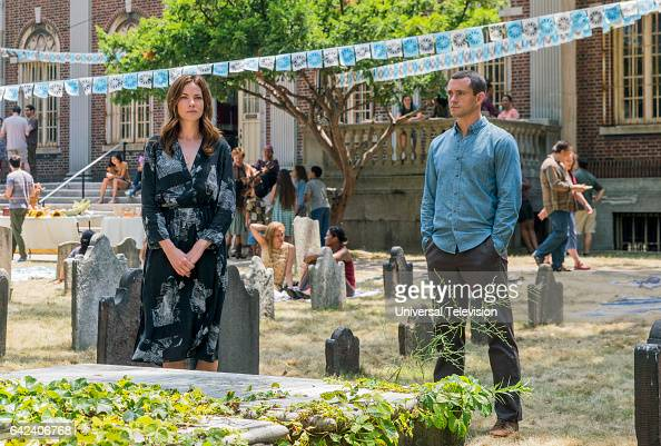 THE PATH 'For Our Safety' Episode 206 Pictured Michelle Monaghan as Sarah Lane Hugh Dancy as Cal Roberts